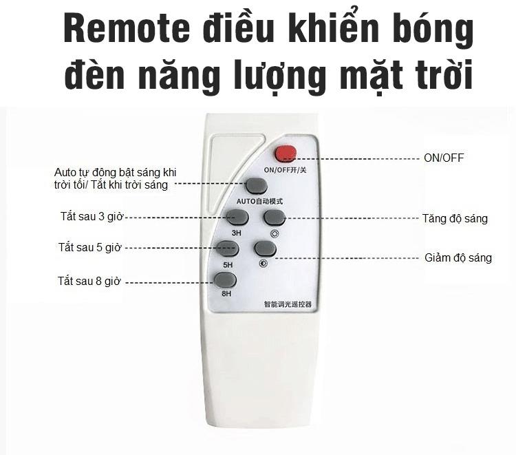 Remote điều khiển - Lắp đèn năng lượng mặt trời Đồng Xoài
