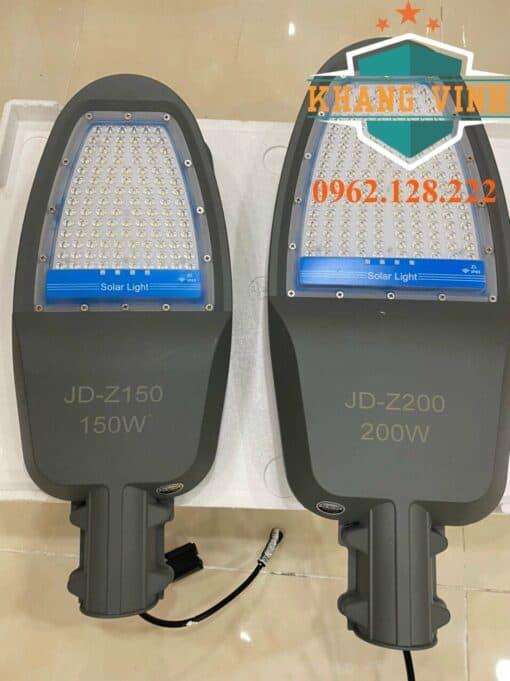 Mẫu đèn năng lượng mặt trời JD-Z150 (150W) và Z200(200W)